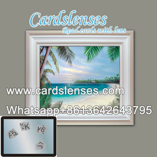 wall painting with IR marked cards camera