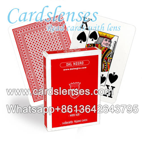 Dal Negro Wide Size markings poker cards
