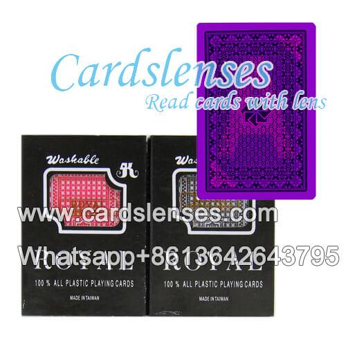 Lenti a contatto carte segnate Royal carte di plastica di grandi dimensioni