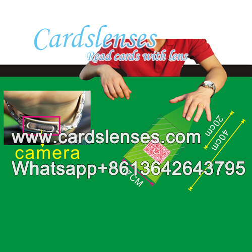 wristwatch poker reader for barcde marked cards