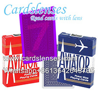 Aviator carte da gioco con le marcature luminose