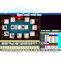 luminous barcode poker background analyzer