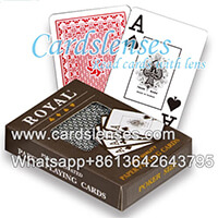 Royal índice jumbo cartas marcadas luminosas